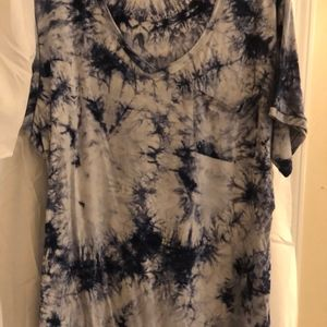 American Eagle Outfitters Tops - American Eagle Blue Tie Dye Shirt